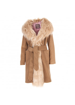 WOMEN'S CLOTHING COAT BEIGE / CAMEL MENU DU JOUR