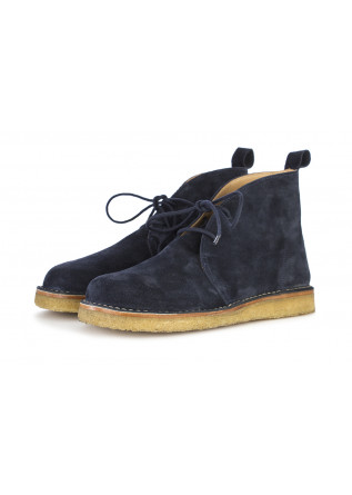 MEN'S SHOES DESERT BOOTS SUEDE LEATHER NIGHT BLUE LEREW'S