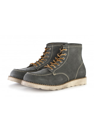 MEN'S SHOES BOOTS NUBUCK LEATHER GREY LEREW'S