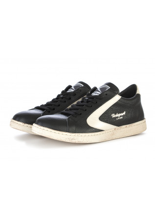 MEN'S SHOES SNEAKERS LEATHER BLACK / CREAM VALSPORT