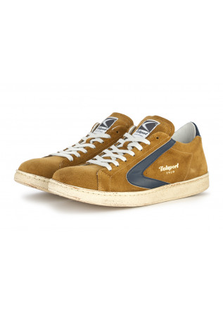 MEN'S SHOES SNEAKERS SUEDE MUSTARD BROWN / BLUE VALSPORT