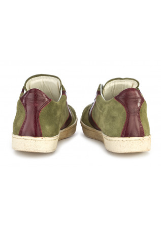 MEN'S SHOES SNEAKERS SUEDE GREEN / BORDEAUX VALSPORT