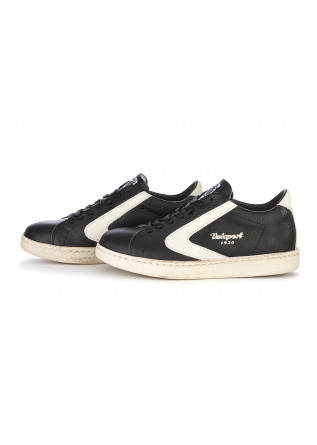 WOMEN'S SHOES SNEAKERS HAMMERED LEATHER BLACK / CREAM VALSPORT