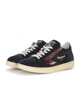 DAMENSCHUHE SNEAKERS WILDLEDER BLAU / BORDEAUX VALSPORT