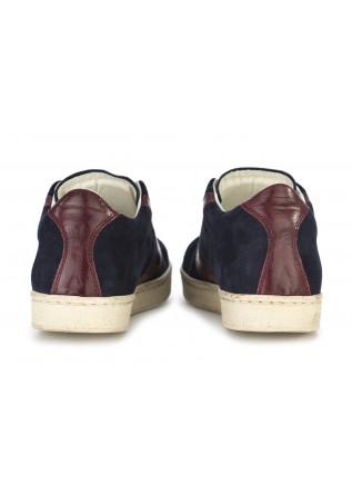 WOMEN'S SHOES SNEAKERS SUEDE LEATHER BLUE NAVY / BORDEAUX VALSPORT