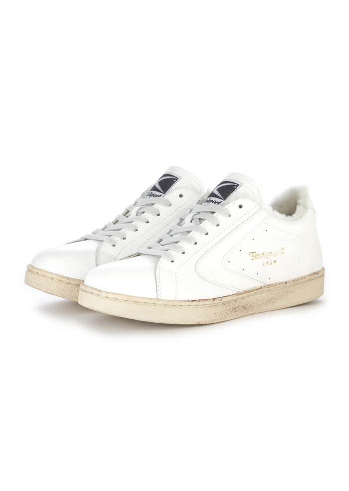 WOMEN'S SHOES SNEAKERS HAMMERED LEATHER WHITE VALSPORT