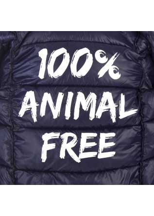 MEN'S CLOTHING JACKET 100% ANIMAL FREE GLOSSY CHINA BLUE SAVE THE DUCK