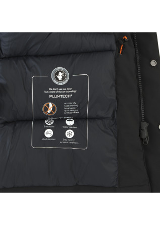 MEN'S CLOTHING LONG JACKET 100% ANIMAL FREE BLACK SAVE THE DUCK