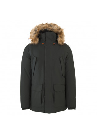 HERRENBEKLEIDUNG LANGE JACKE 100% ANIMAL FREE DUNKELGRÜN SAVE THE DUCK