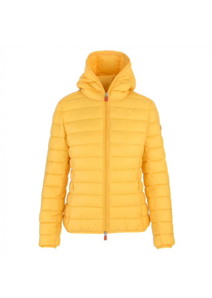 WOMEN'S CLOTHING DOWN JACKET ECO FRIENDLY CANARY YELLOW SAVE THE DUCK