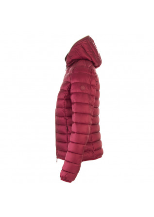 WOMEN'S CLOTHING DOWN JACKET ECO FRIENDLY RED BORDEAUX SAVE THE DUCK