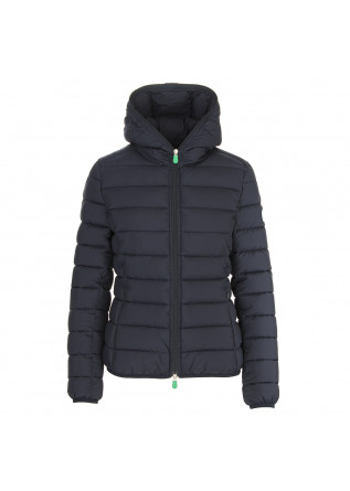 WOMEN'S CLOTHING DOWN JACKET ECO FRIENDLY BLUE NAVY SAVE THE DUCK