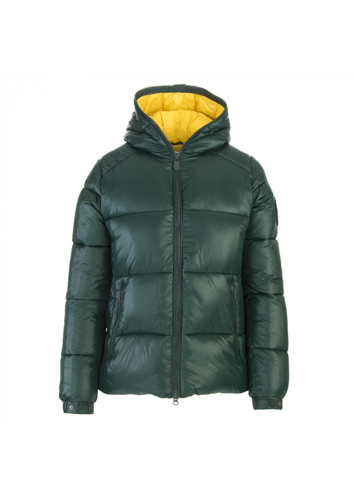 outlet store 347ad 285d6 ABBIGLIAMENTO DONNA PIUMINO ECO FRIENDLY VERDE / GIALLO SAVE THE DUCK
