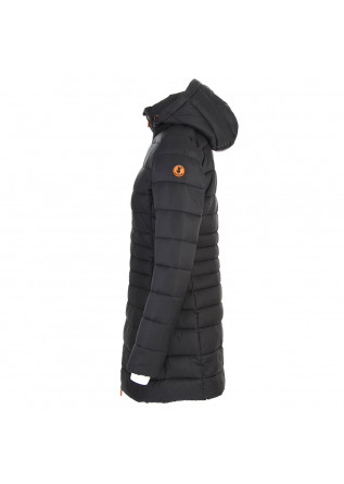 WOMEN'S CLOTHING LONG DOWN JACKET ECO FRIENDLY BLACK SAVE THE DUCK