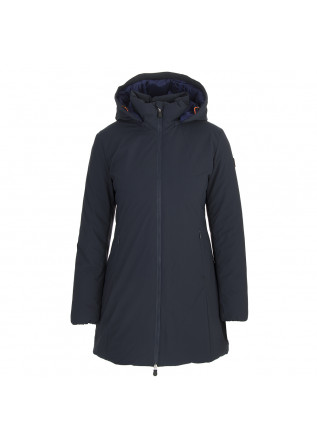 DAMENKLEIDUNG LANGE DAUNENJACKE ECO FRIENDLY BLAU / LILA SAVE THE DUCK