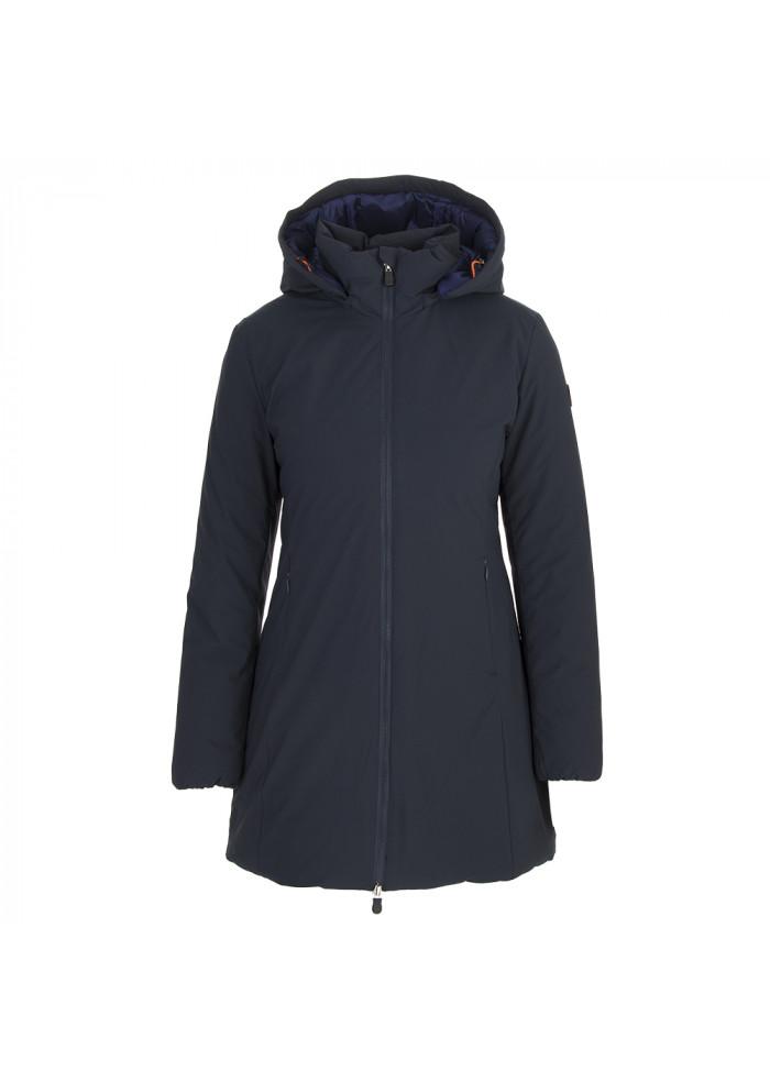 premium selection 7ce6c cdd22 WOMEN'S CLOTHING LONG DOWN JACKET ECOFRIENDLY BLU PURPLE SAVE THE DUCK
