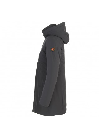 DAMENKLEIDUNG LANGE DAUNENJACKE ECO FRIENDLY SCHWARZGRAU SAVE THE DUCK