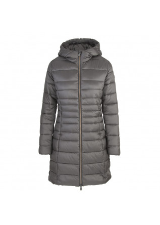 WOMEN'S CLOTHING LONG DOWN JACKET ECO FRIENDLY GREY SAVE THE DUCK