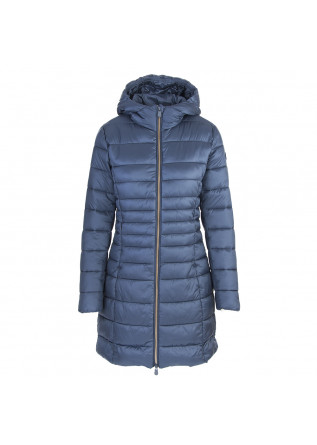 WOMEN'S CLOTHING LONG DOWN JACKET ECO FRIENDLY BLUE SAVE THE DUCK