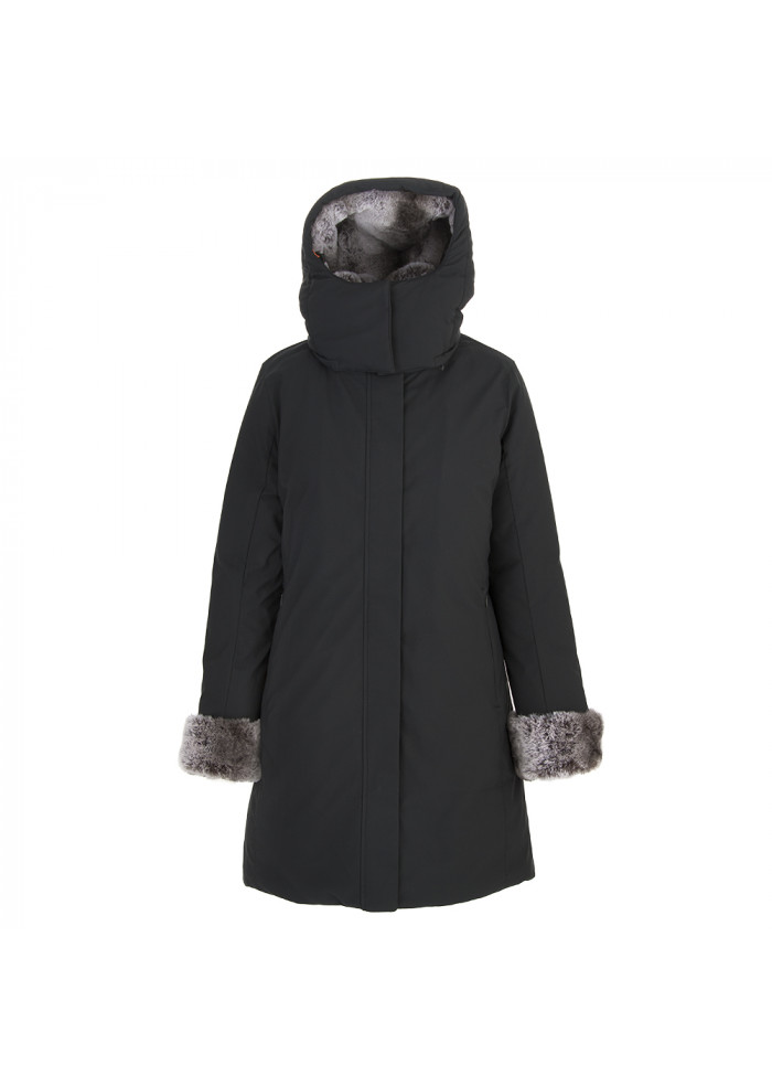 WOMEN'S CLOTHING DOWN JACKET ECO FRIENDLY ECO FUR BLACK SAVE THE DUCK