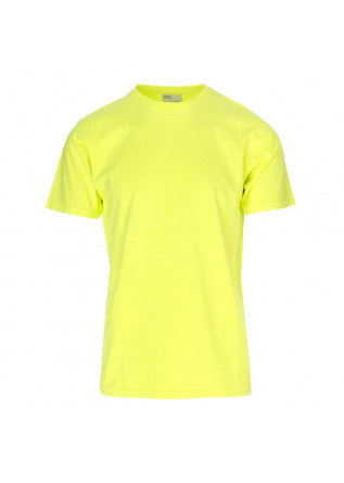 UNISEX CLOTHING T-SHIRT BIO COTTON FLUORESCENT YELLOW COLORFUL STANDARD