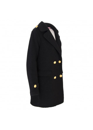 WOMEN'S CLOTHING COAT DOUBLE-BREASTED BLACK MENU DU JOUR