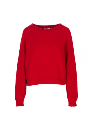 DAMENKLEIDUNG PULLOVER WOLLE 7 KASCHMIR ROT SEMICOUTURE