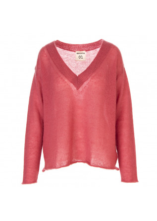 WOMEN'S CLOTHING SWEATER V-NECK PINK SEMICOUTURE