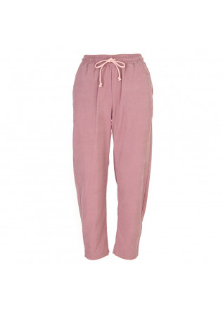 WOMEN'S CLOTHING TROUSERS COTTON VELVET PINK SEMICOUTURE