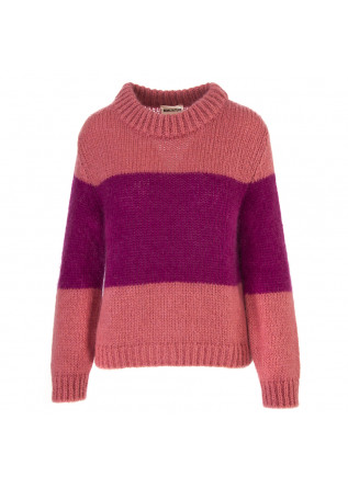 WOMEN'S CLOTHING SWEATER PINK / PURPLE SEMICOUTURE