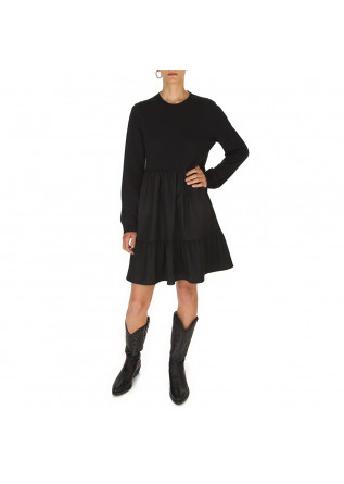 WOMEN'S CLOTHING DRESS WOOL MESH / WOOL MIX BLACK SEMICOUTURE