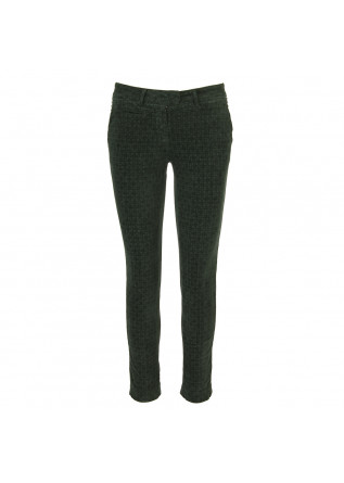 WOMEN'S CLOTHING TROUSERS VELVET STRETCH DARK GREEN MASON'S