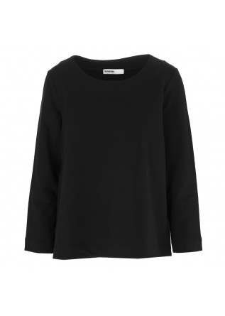 WOMEN'S CLOTHING SWEATSHIRT COTTON STRETCH BLACK BIONEUMA
