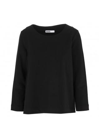 WOMEN'S CLOTHING SWEATSHIRT COTTON STRETCH BLACK BIONEUMA