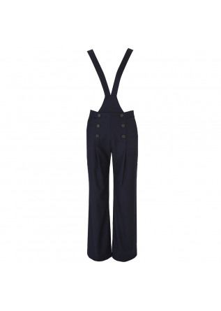 WOMEN'S CLOTHING PALAZZO OVERALLS DARK BLUE SEMICOUTURE