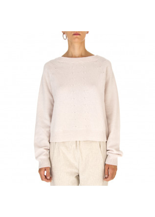 WOMEN'S CLOTHING SWEATER WOOL / KASHMIR PALE PINK SEMICOUTURE