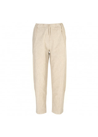 WOMEN'S CLOTHING TROUSERS COTTON STRETCH SAND BEIGE BIONEUMA