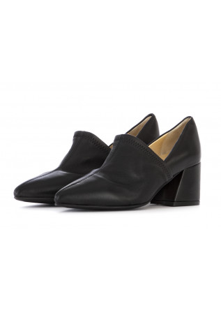 WOMEN'S SHOES DECOLLETTE PUMPS NAPPA LEATHER BLACK L'ARIANNA