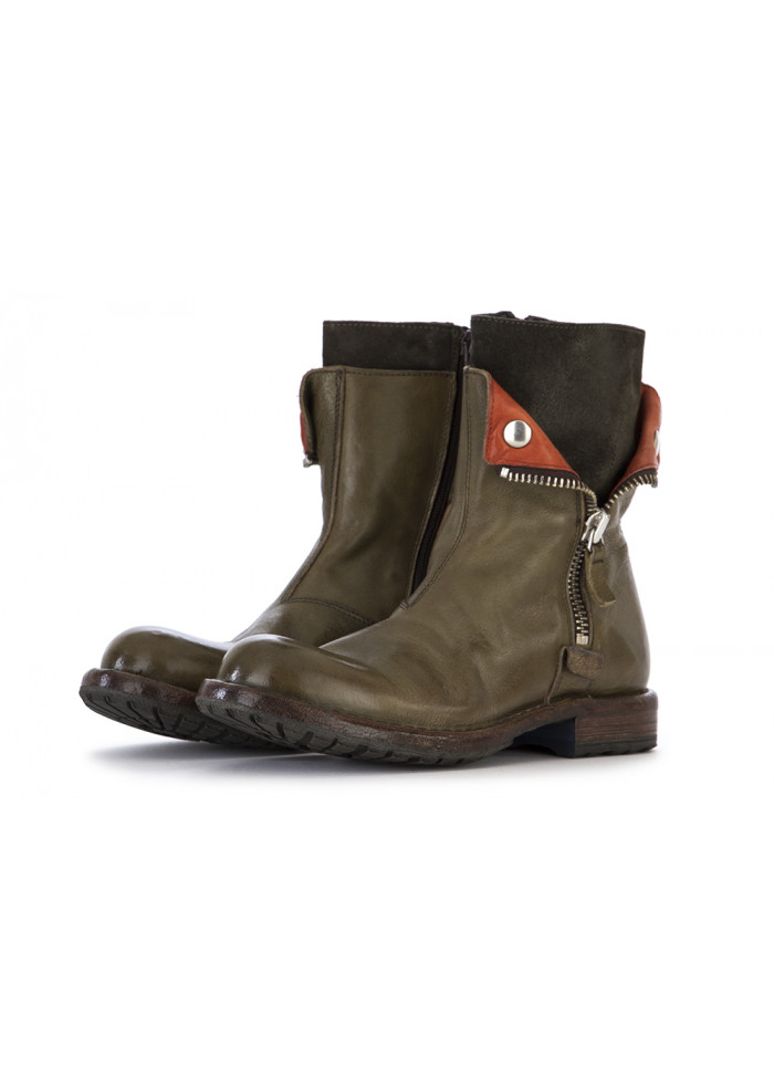 WOMEN'S SHOES BOOTS LEATHER OLIVE GREEN
