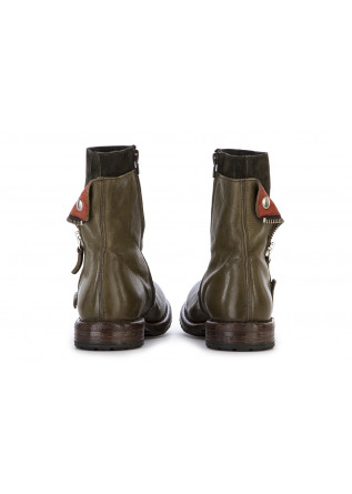 WOMEN'S SHOES BOOTS LEATHER OLIVE GREEN / ORANGE / DARK GREY MOMA