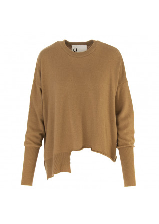 WOMEN'S CLOTHING SWEATER WOOL MIX CAMEL BROWN 8PM