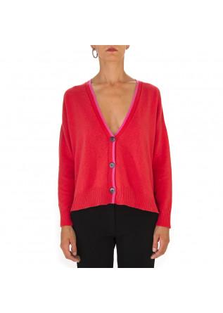WOMEN'S CLOTHING CARDIGAN WOOL KASHMIR ORANGE SEMICOUTURE