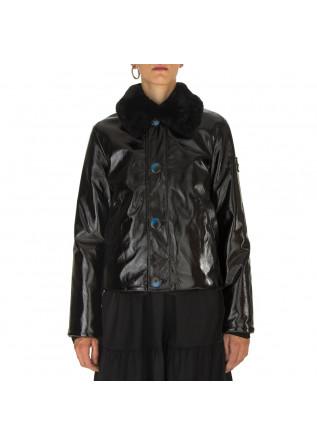 WOMEN'S CLOTHING JACKET REVERSIBLE ECO LEATHER / ECO FUR BLACK OOF