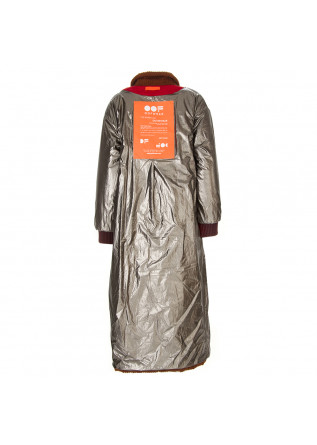 WOMEN'S CLOTHING LONG COAT WIDE STRIPED VELVET COTTON BROWN OOF