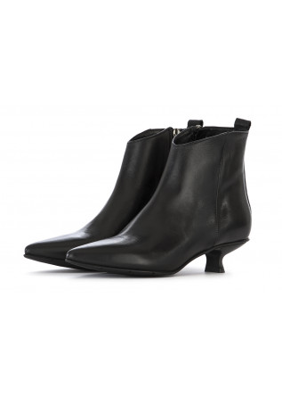 WOMEN'S SHOES ANKLE BOOTS LEATHER BLACK POESIE VENEZIANE