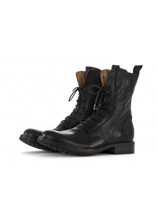 MEN'S SHOES BOOTS LEATHER BLACK FIORENTINI + BAKER