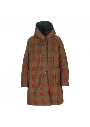 DAMENKLEIDUNG JACKE ANIMAL FRIENDLY DUNKELGRÜN TARTAN BRAUN OOF