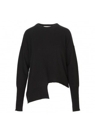 WOMEN'S CLOTHING SWEATER WOOL MIX BLACK 8PM