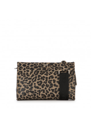 WOMEN'S BAGS SHOULDER BAG VINYL BEIGE / BLACK LEOPARD GUM CHIARINI