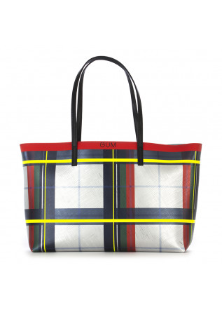 WOMEN'S BAGS SHOULDER BAG TARTAN SILVER YELLOW RED GREEN GUM CHIARINI